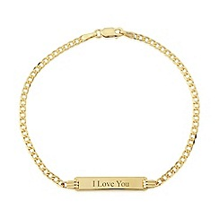 Love Story - 9ct yellow gold 'i love you' bracelet