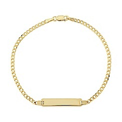 Love Story - 9ct yellow gold id bracelet