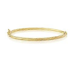 Love Story - 9ct gold ladies bangle