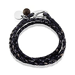 Love Story - Ladies Genuine Leather Denim Look Bracelet