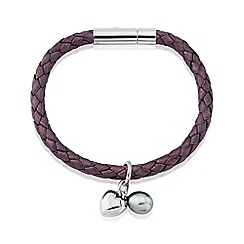 Love Story - Ladies Genuine Leather Berry Bracelet