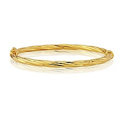 Love Story - 9ct Yellow Gold Ladies Bangle