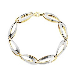 Love Story - 9ct Yellow and White Gold Ladies Bracelet