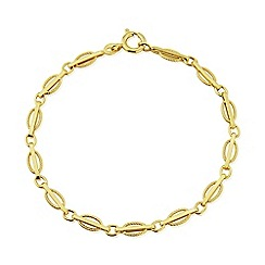 Love Story - 9ct Yellow Gold Ladies Bracelet