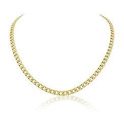 Love Story - Gents gold plated curb chain