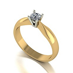 Love Story - 9ct gold 0.25ct diamond solitaire ring