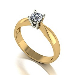 Love Story - 9ct gold 0.33ct diamond solitaire ring