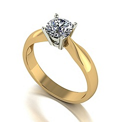 Love Story - 9ct gold 0.75ct diamond solitaire ring