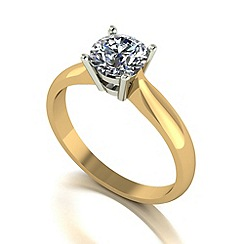 Love Story - 9ct gold 1ct diamond solitaire ring