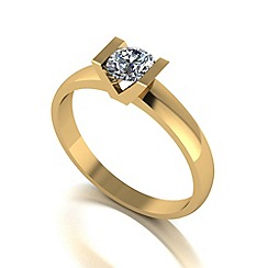 Love Story - 9ct gold 0.50ct diamond solitaire ring