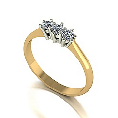 Love Story - 9ct gold 0.25ct diamond trilogy ring