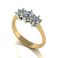 Love Story - 9ct gold 1.00ct diamond trilogy ring
