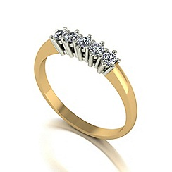 Love Story - 9ct gold 0.25ct diamond 5 stone ring