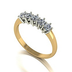 Love Story - 9ct gold 0.50ct diamond 5 stone ring