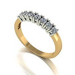 Love Story - 9ct gold 0.50ct diamond 7 stone ring