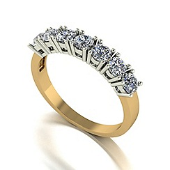 Love Story - 9ct gold 1ct diamond 7 stone ring