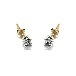 Love Story - 9ct gold 0.20ct total diamond earrings