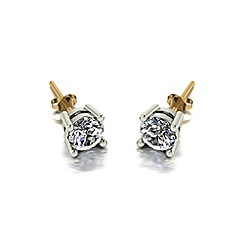 Love Story - 9ct gold 1ct total diamond earrings