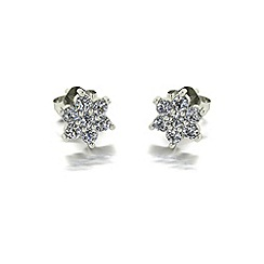 Love Story - 9ct gold 0.50ct total diamond earrings