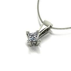 Love Story - 9ct gold 0.25ct diamond pendant & chain