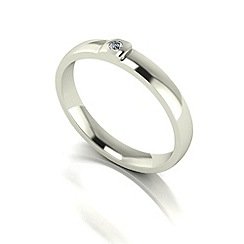 Love Story - 9ct white gold 3pts diamond 3mm wedding band