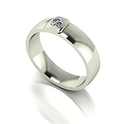 Love Story - 9ct white gold 5pts diamond 5mm wedding band