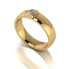 Love Story - 9ct gold 5pts diamond 5mm wedding band