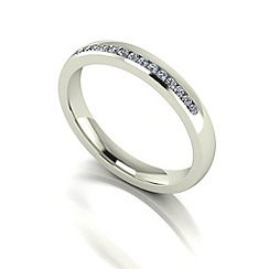 Love Story - 9ct white gold 15pts diamond 3mm wedding band