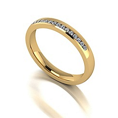 Love Story - 9ct gold 15pts diamond 3mm wedding band