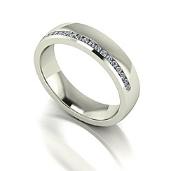 Love Story - 9ct white gold 20pts diamond 5mm wedding band