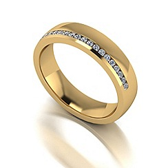 Love Story - 9ct gold 20pts diamond 5mm wedding band