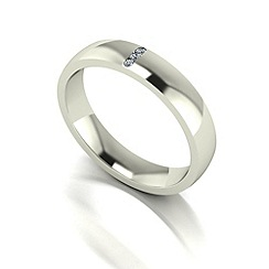 Love Story - 9ct white gold 4mm diamond set wedding band