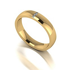 Love Story - 9ct gold 4mm diamond set wedding band