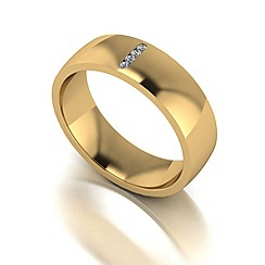 Love Story - 9ct gold 6mm diamond set wedding band