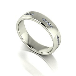 Love Story - 9ct white gold 15pts diamond set 5mm wedding band