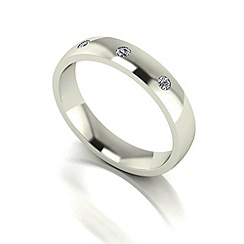 Love Story - 9ct white gold 10pts diamond set 4mm wedding band