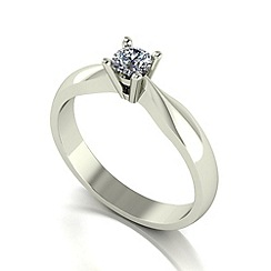 Love Story - 9ct white gold 0.25ct diamond solitaire ring