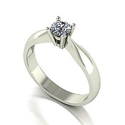 Love Story - 9ct white gold 0.33ct diamond solitaire ring