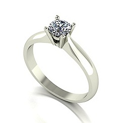 Love Story - 9ct white gold 0.50ct diamond solitaire ring