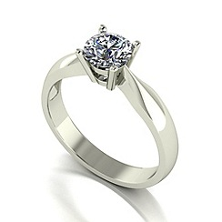 Love Story - 9ct white gold 0.75ct diamond solitaire ring