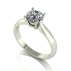 Love Story - 9ct white gold 1ct diamond solitaire ring