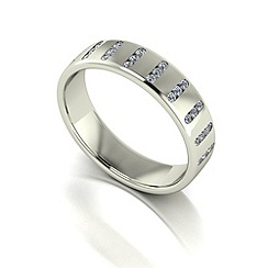 Love Story - 9ct white gold 25pts diamond set 5mm wedding band