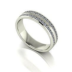 Love Story - 9ct white gold 50pts diamond set 5mm wedding band