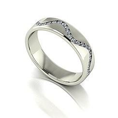 Love Story - 9ct white gold 30pts diamond set 5mm wedding band