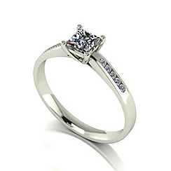 Love Story - 9ct white gold 0.50ct total diamond solitaire ring