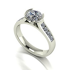 Love Story - 9ct white gold 1ct total diamond solitaire ring