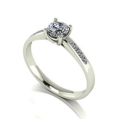 Love Story - 9ct white gold 0.60ct total diamond solitaire ring