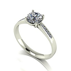 Love Story - 9ct white gold 1.10ct total diamond solitaire ring