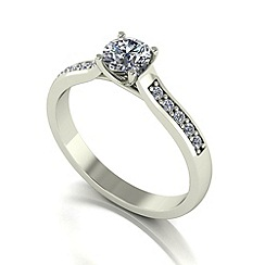 Love Story - 9ct white gold 0.65ct total diamond solitaire ring