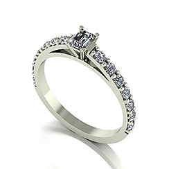 Love Story - 9ct white gold 0.66ct total diamond solitaire ring
